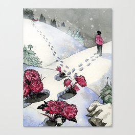 Pink Carnations Canvas Print