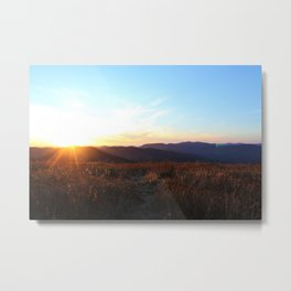 Sunset Black Balsam Knob Metal Print