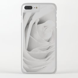 folds in a rose close-up Clear iPhone Case