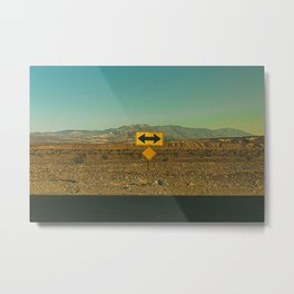 Which Way? / Death Valley, California Metal Print