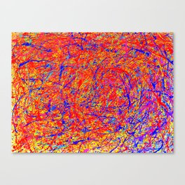 Abstract Jackson Pollock Painting Titled: Stimulates 5 Canvas Print