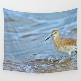 Wading Willet Wall Tapestry