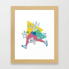 Run like a deer Framed Art Print