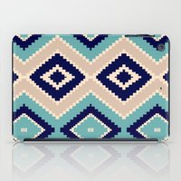navajo iPad Cases featuring navajo blue by spinL