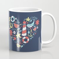 nautical Mugs featuring Nautical by lindsey salles