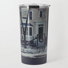 Snowy Chicago Travel Mug
