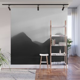 Foggy Mountains | Landscape Photography | B&W Art Prints | Misty Forest | Nature | Smokey Mountains Wall Mural