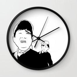 SKINNY AND FATTY Wall Clock