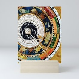 Zodiac Astronomical Clock Compass Mini Art Print