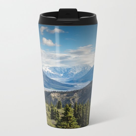 Mountain Landscape # sky Metal Travel Mug