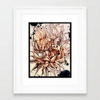dahlia Framed Art Prints featuring Dahlia by Irina Vinnik