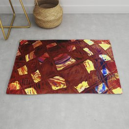 Yellow Square Rug