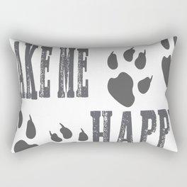 Dogs make me happy Tee Rectangular Pillow