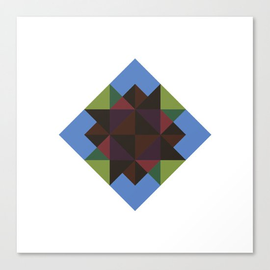 #394 Diamond in the sky – Geometry Daily Canvas Print