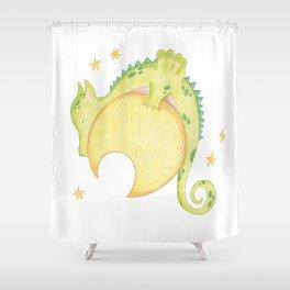 dragon & moon Shower Curtain