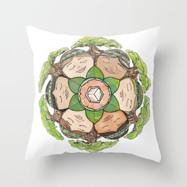 Earth Dreaming Throw Pillow