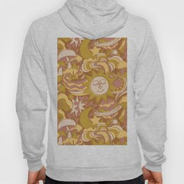 Psychedelic Daydream in Gold + Mauve Hoody