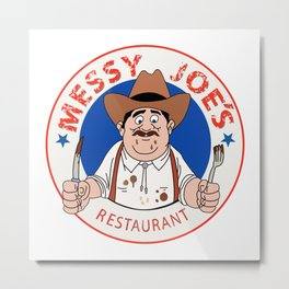 Messy Joe's Restaurant - The IT Crowd Metal Print