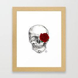 Rose Skull Framed Art Print