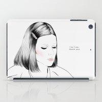 tenenbaum iPad Cases featuring Gwyneth Paltrow (as Margot Tenenbaum) - Melancholia Serie by Sol Fortuny