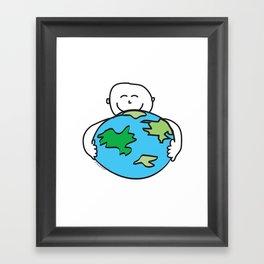 Love the Earth Framed Art Print