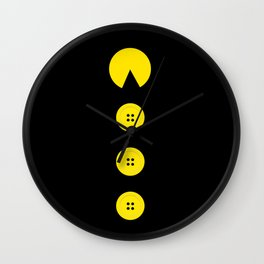 Hungry for buttons Wall Clock