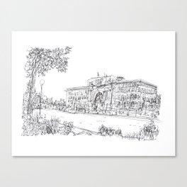 Winnipeg Cityscape- Union Station on Main Street, Winnipeg, Manitoba Canvas Print
