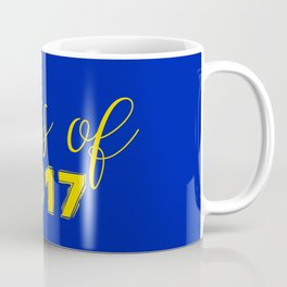 Class of 2017 - Blue Yellow Coffee Mug