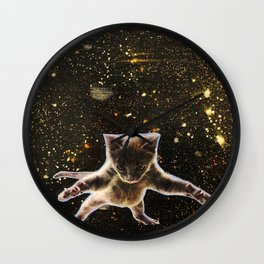 Kitten. In. Space. Wall Clock