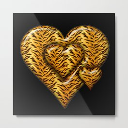 Cheetah Heart HD by JC LOGAN 4 Simply Blessed Metal Print