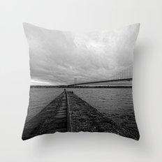 Forth Road Bridge Throw Pillow