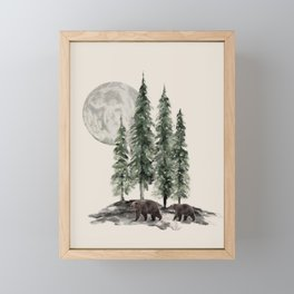 Full Moon Rising Framed Mini Art Print