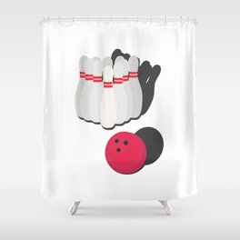 cone with bowling ball Shower Curtain