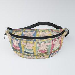 Sumo Wrestlers, Utagawa Yoshikazu, Woodcut Fanny Pack