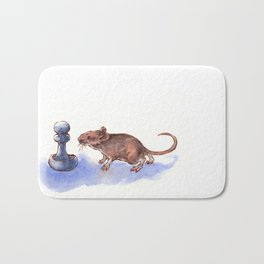 Mouse and Pawn Bath Mat