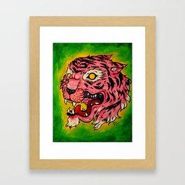 Wrath of the Pink Tigress Framed Art Print