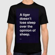 sheeple Mens Fitted Tee MEDIUM Black