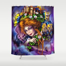 Fairy love and magic Shower Curtain