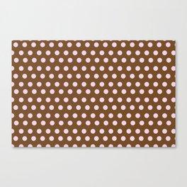 Pink & Brown dot Canvas Print