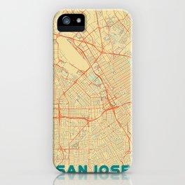 San Jose Map Retro iPhone Case