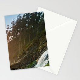 Blumenthal Falls Ocean Sunset at Short Sands Beach, Oregon Stationery Cards