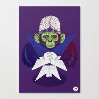 jojo Canvas Prints featuring Mojo Jojo by Mikhail Desales