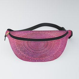Watercolor Mandala Painting Red Pink Fanny Pack