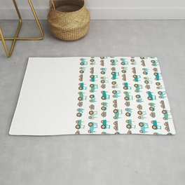 Tractors on white Rug