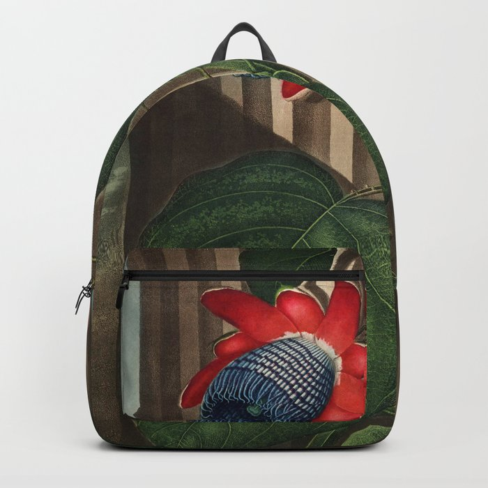 Winged Passion Flowers : Temple of Flora Backpack