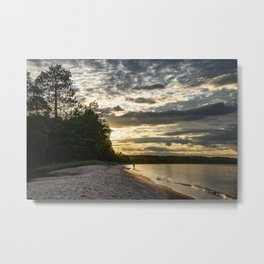 Sunset in Lake Superior Metal Print