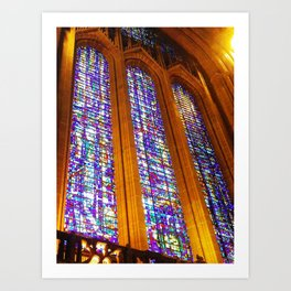 Liverpool Anglican cathedral stained glass window in colour Art Print