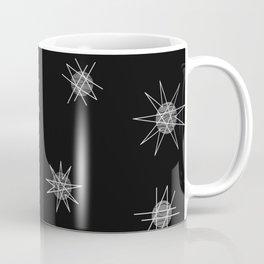 Atomic Age Starburst Planets Black Coffee Mug
