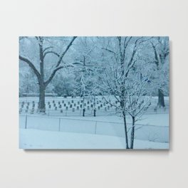 Confederate Snow Metal Print