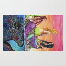 Mermaid Sisters Rug